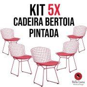 Kit 5x Cadeira Bertoia Pintada