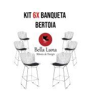 Kit 6x Banqueta Bertoia Cromada