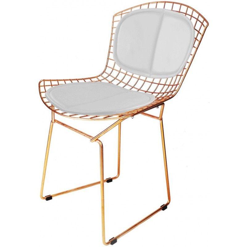 Cadeira Bertoia c/encosto Cobre