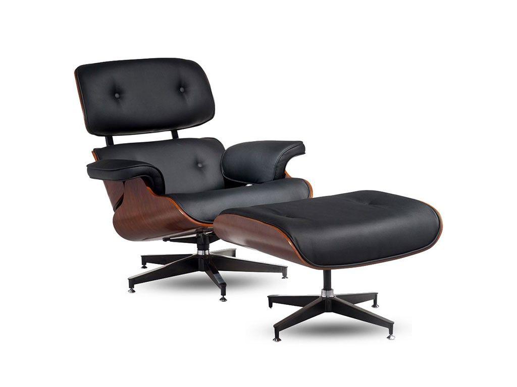 Promoção Charles Eames com Puff / Couro Natural