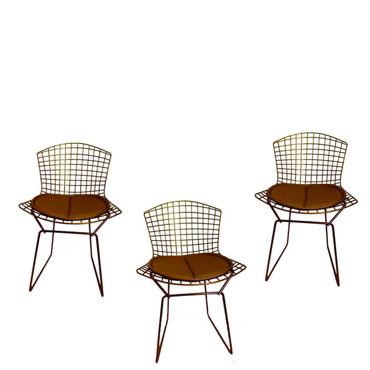 Kit 3x Cadeira Bertoia Cobre