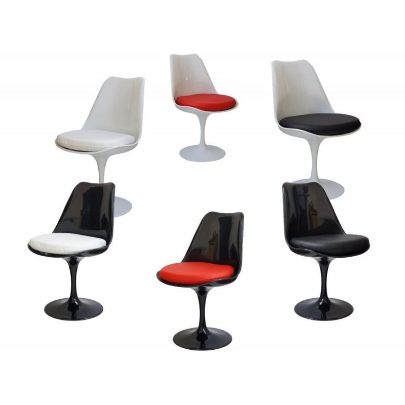 KIT 4 cadeira Saarinen Sem Braços (cor preta)
