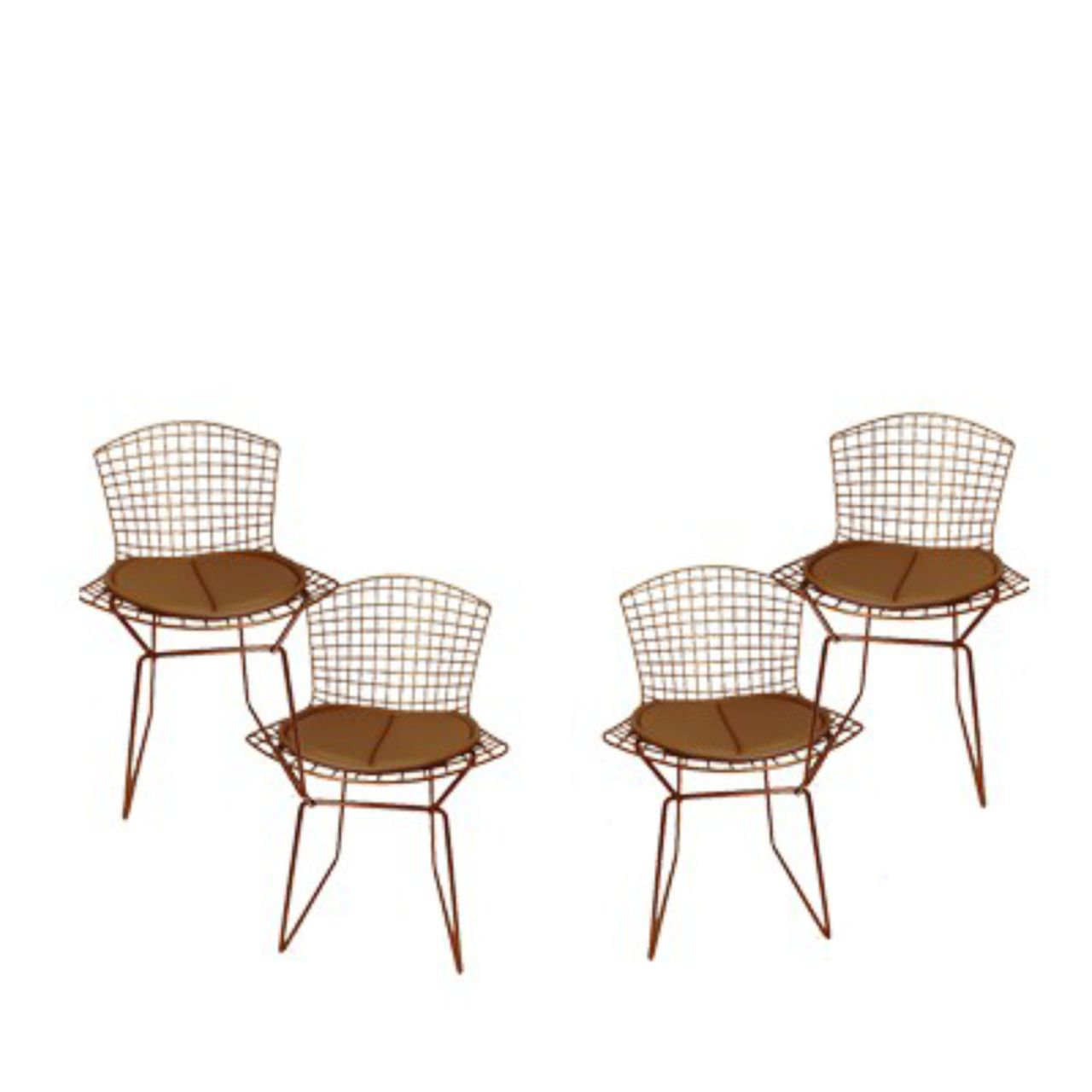 Kit 4X Cadeira Bertoia Cobre