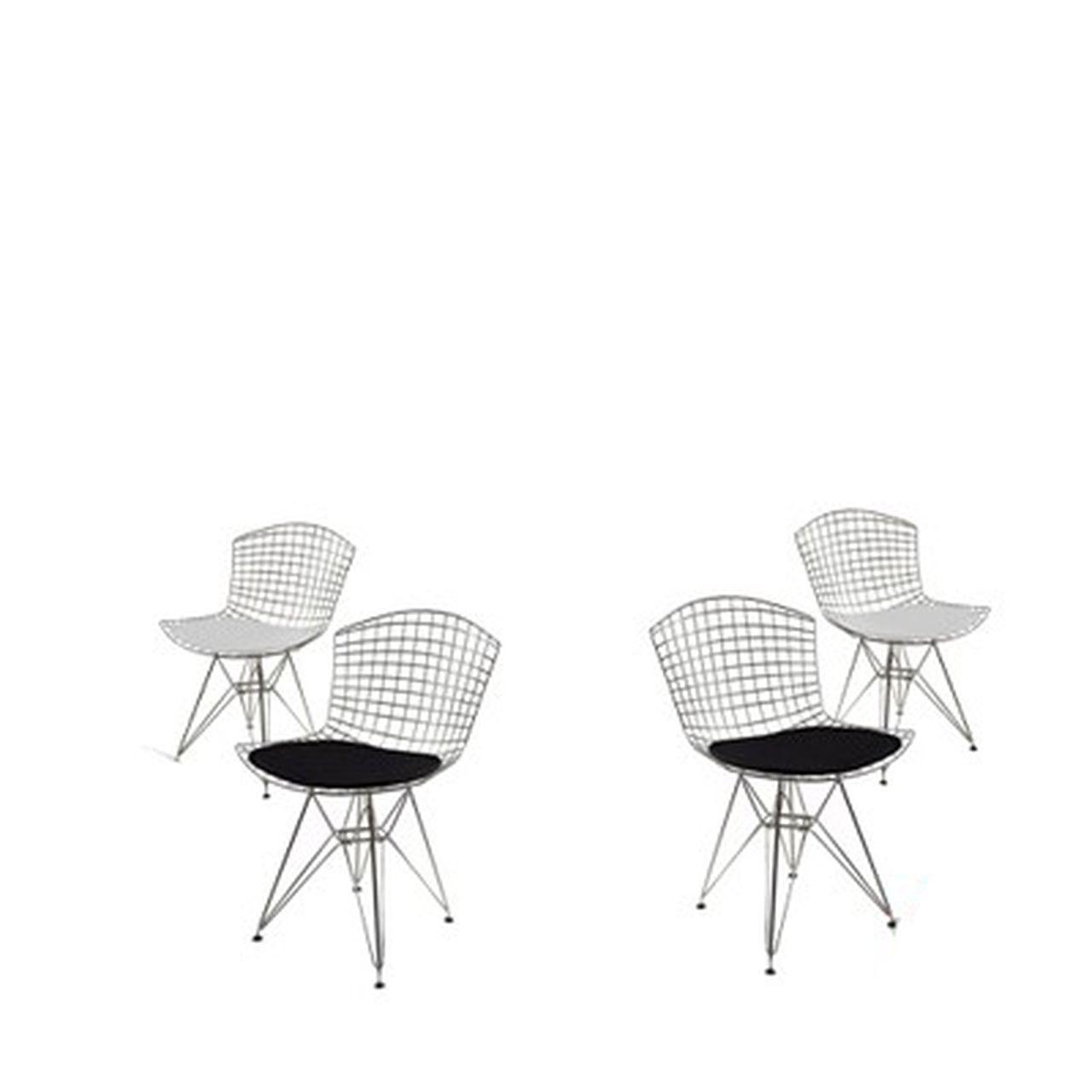 Kit 4x Cadeira Bertoia Dkr Cromada