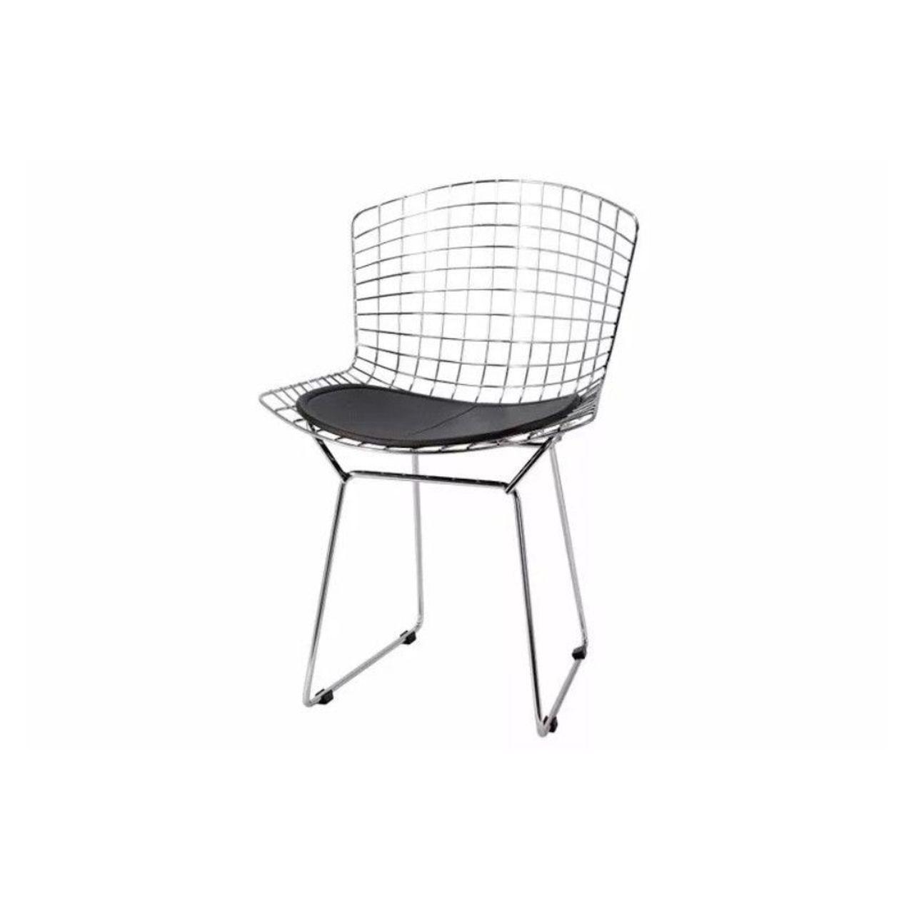 Kit 4x Cadeira Bertoia Inox