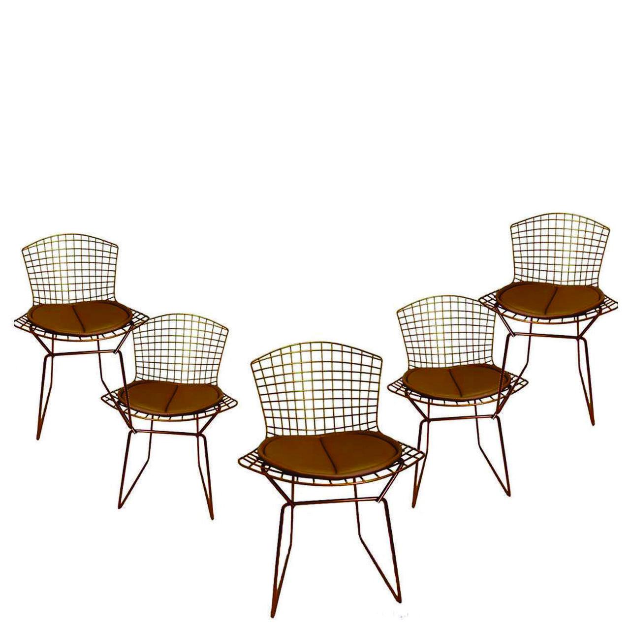 Kit 5x Cadeira Bertoia Cobre