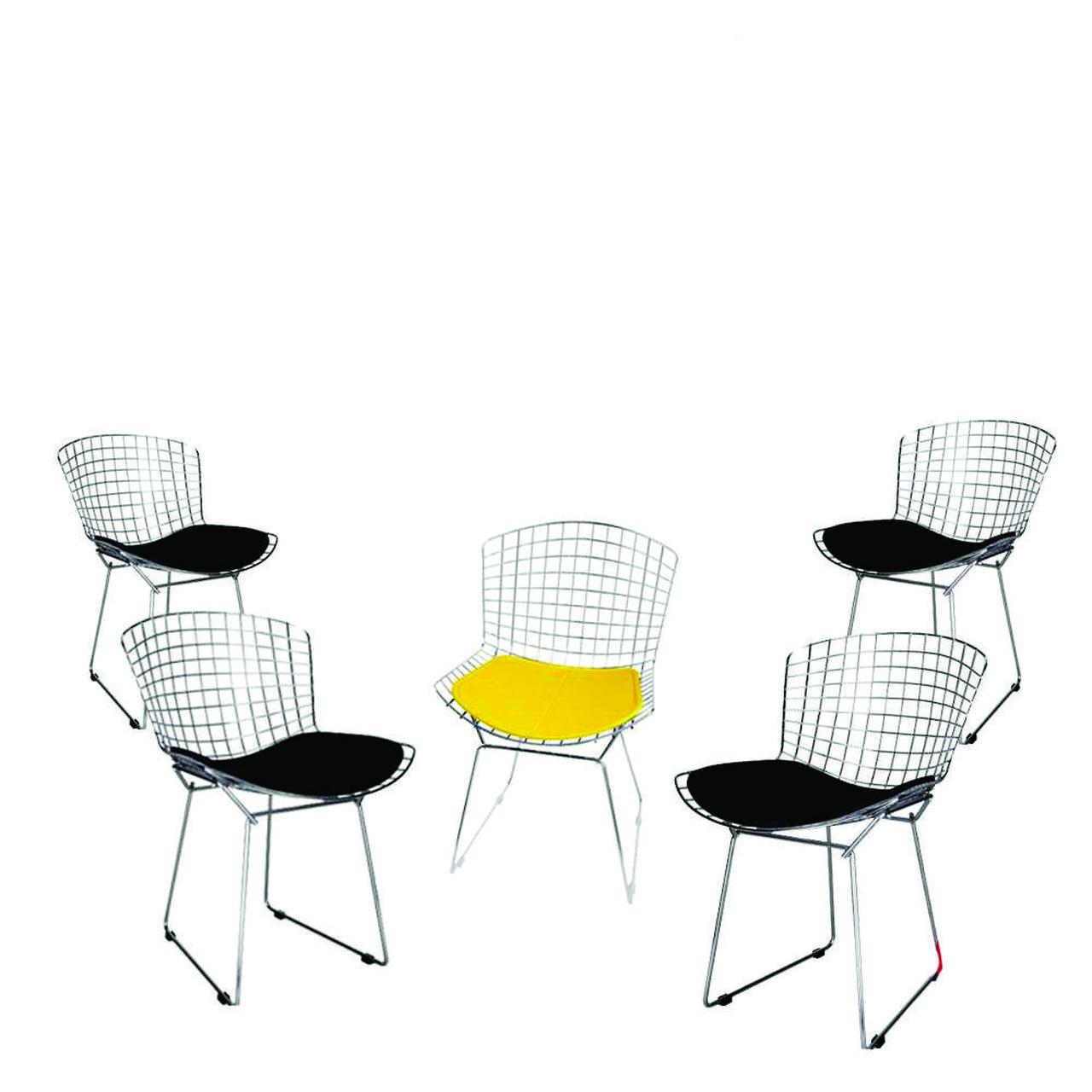 Kit 5x Cadeira Bertoia Cromada