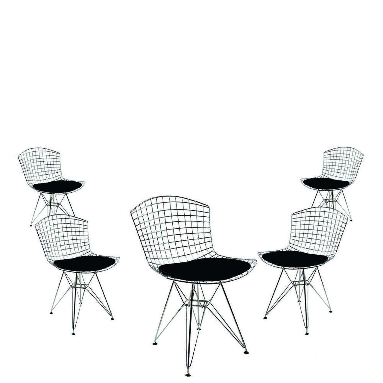 Kit 5x Cadeira Bertoia DKR Cromada