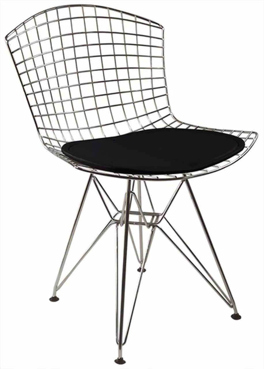 kit 6x cadeiras Bertoia DKR Inox