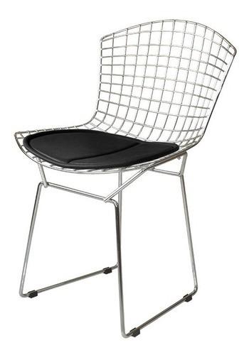 Kit 8X Cadeira Bertoia Cromada