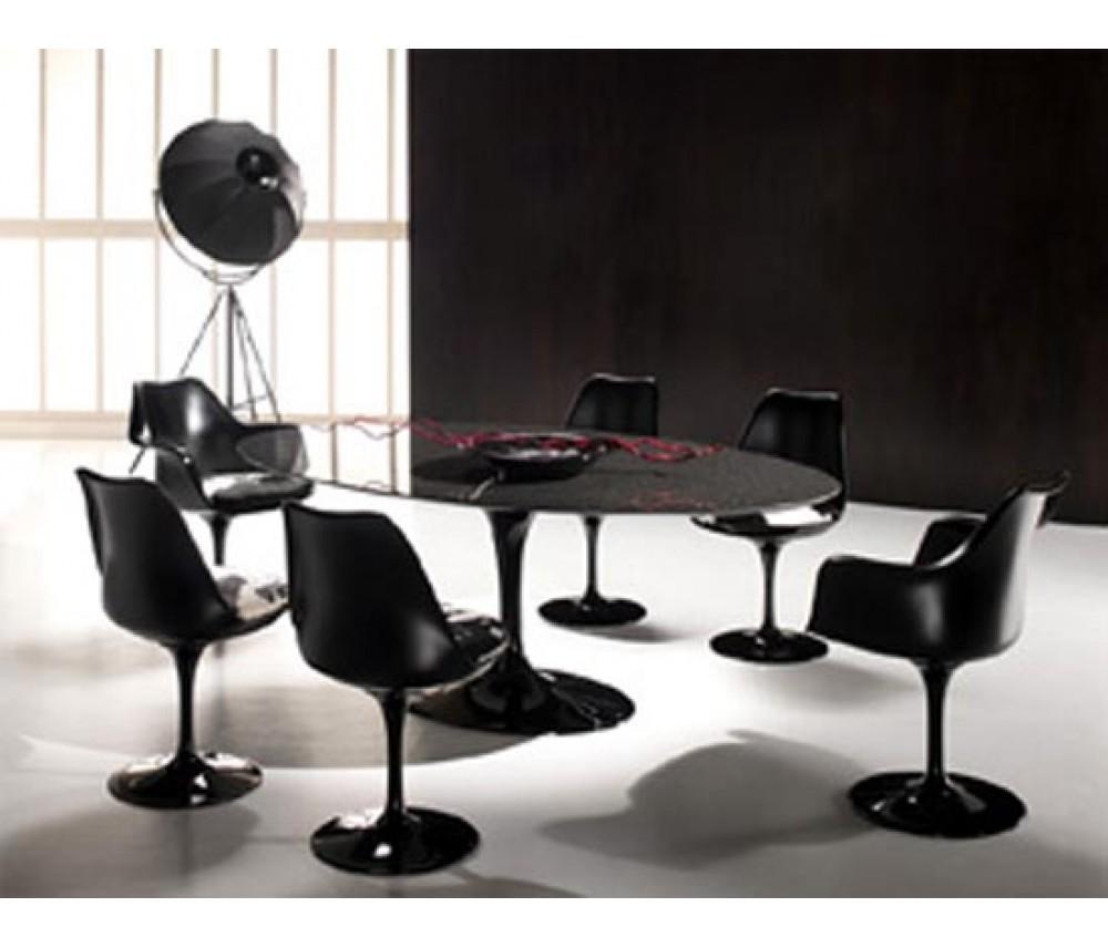 Mesa de jantar oval Saarinen 1,98 x1,22 NERO PRONTA ENTREGA