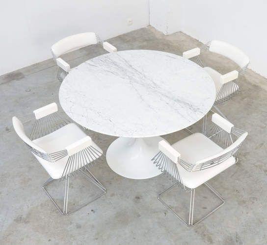 Mesa De Jantar Saarinen  1 Metro Branco Extra Pronta Entrega