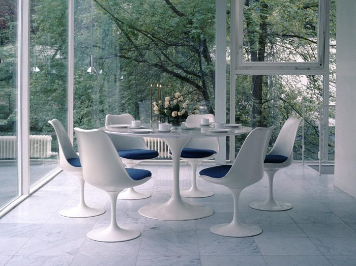Mesa de jantar Saarinen D150 BRANCO EXTRA PRONTA ENTREGA