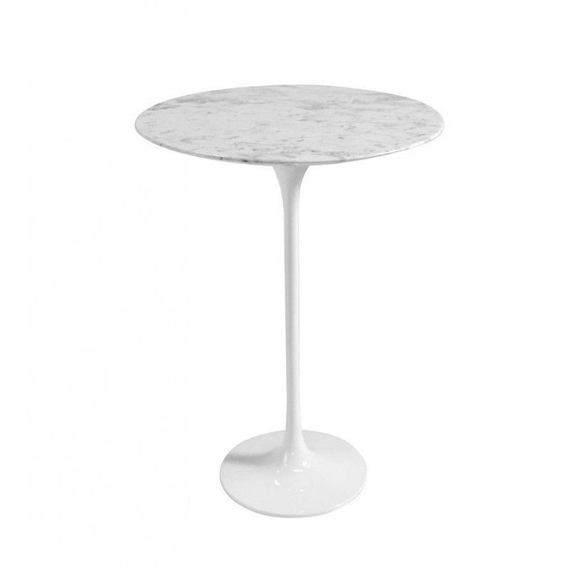 Mesa lateral redonda Saarinen