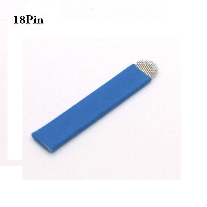 100 Laminas Tebori Microblading Sobrancelha 18U Flex