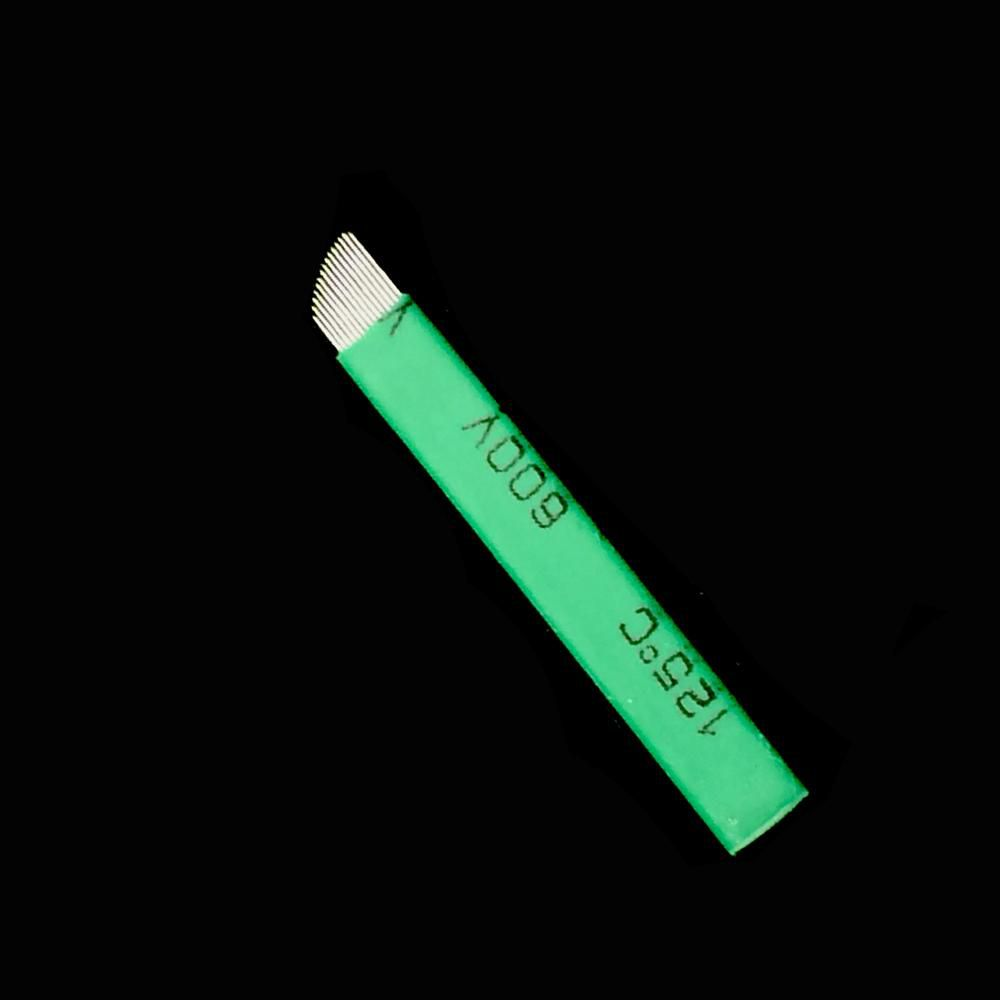 100 Unid Lamina Tebori Microblading Sobrancelha 0.16mm 12 Flex Nano