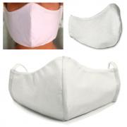 10 Unidades Máscara Tecido Duplo Lavável Reutilizável - 100% Algodão Tricoline