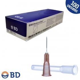 Agulha Hipodérmica 13x4,5mm 26G 1/2 - Marrom - PrecisionGlide BD - 100un