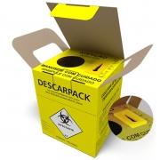 Coletor Papelão Material Perfurocortante Agulhas Descarpack 1,5 Litros - 20 Unidades