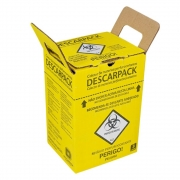 Coletor Papelão Material Perfurocortante Agulhas Descarpack 3 Litros - 20 Unidades
