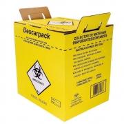 Coletor Papelão Material Perfurocortante Agulhas Descarpack 7 Litros - 20 Unidades