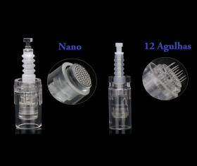Combo Dermapen Mym M5 M7 10 Cartuchos Reposição Nano + 10 Cartuchos 12 Agulhas Microagulhamento