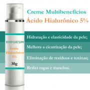 Creme Ácido Hialurônico Antitoxinas Antirrugas Antimanchas Para Pele - 30g