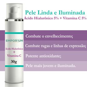 Creme Pós Microagulhamento  Hialurônico 5% + Vitamina C 5%  30g