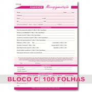 Ficha Anamnese Micropigmentação Microblading Bloco 100 Folhas