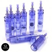 Kit 10 Cartuchos Dermapen Dr Pen Microagulhamento 12 Agulhas