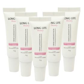 Kit 5un Tratamento Pos Micropigmentacao Creme Suavizante Facial Long Life - 12g
