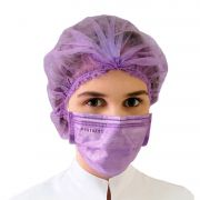 Mascara Descartavel Lilas Tripla Com 50 Unidades Micropigmentacao Protdesc