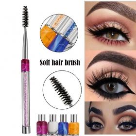Pincel Escova Reutilizável Extensão Cílios Maquiagem Micropigmentação