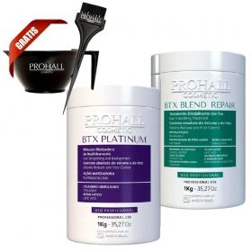 Prohall Btx Platinum Matizador 1 Kg + Btx Blend Repair Organico 1 Kg