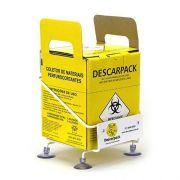 Suporte Para Caixa 1,5 L  Descarpack + 2 Unidades Caixa Papelão Para Material Perfurocortante 1,5L Descarpack