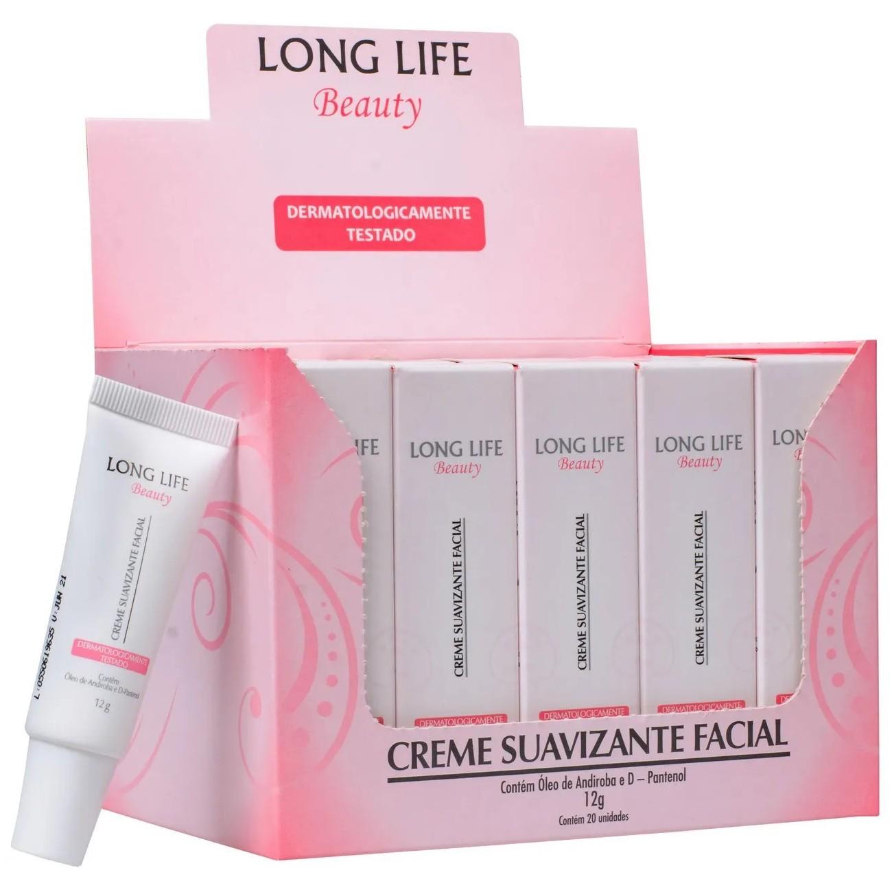 40un Tratamento Pos Micropigmentacao Creme Suavizante Facial Long Life - 12g
