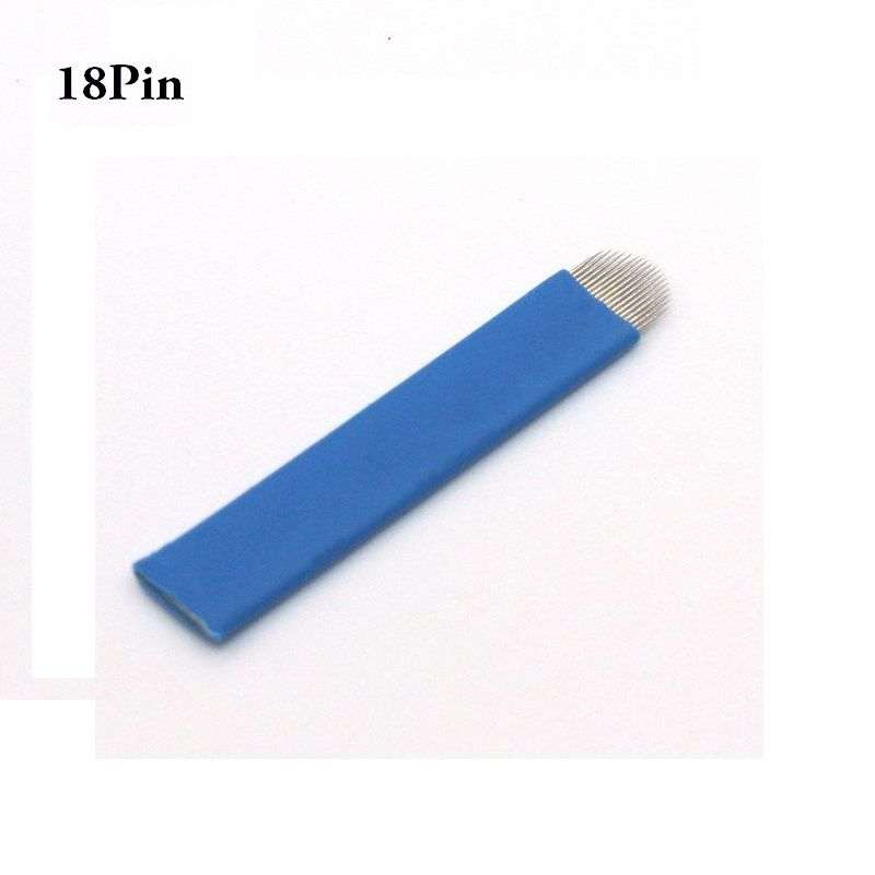 50 Laminas Tebori Microblading Sobrancelha 18U Flex
