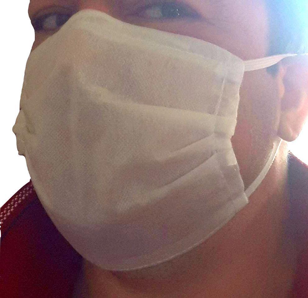 50 Unidades Máscara TNT Triplo Proteção Respiratória - Descartável