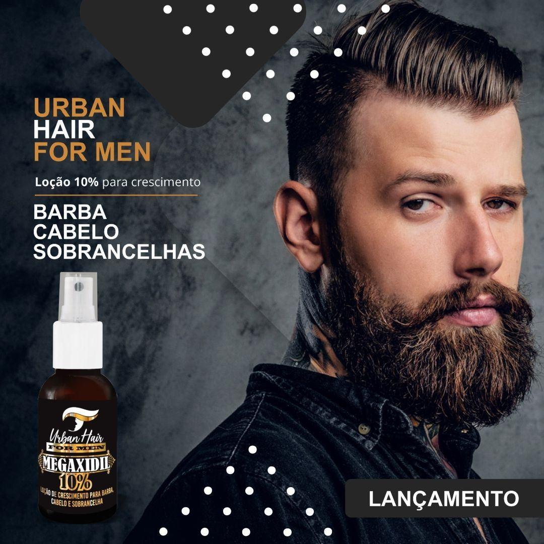 5 Un Tônico Loção Crescimento Cabelo Barba Megaxidil 10% Atacado
