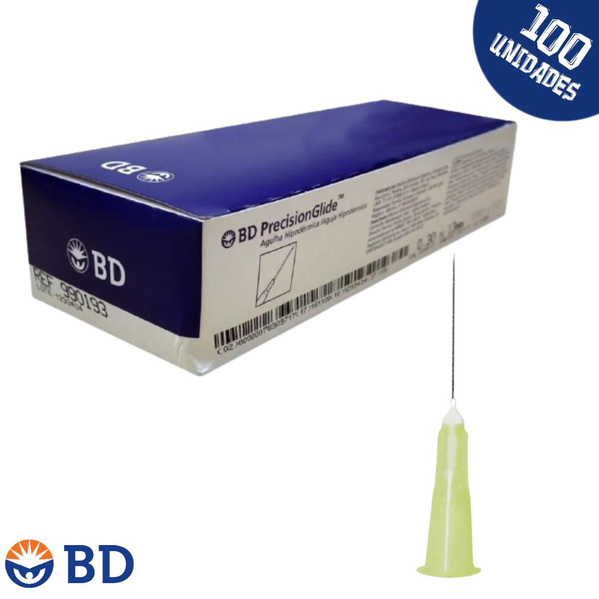Agulha HiPodérmica Carboxiterapia 13x3 30g 1/2 - BD - 100un
