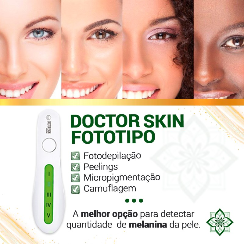 Analisador Fototipo de Pele Digital Doctor Skin Doutor da Estética