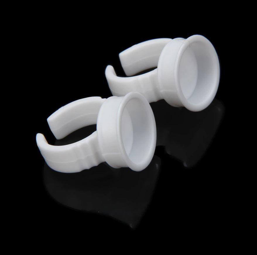 Anéis Batoque Anel Micropigmentação 100 Unidades Branco Descartável