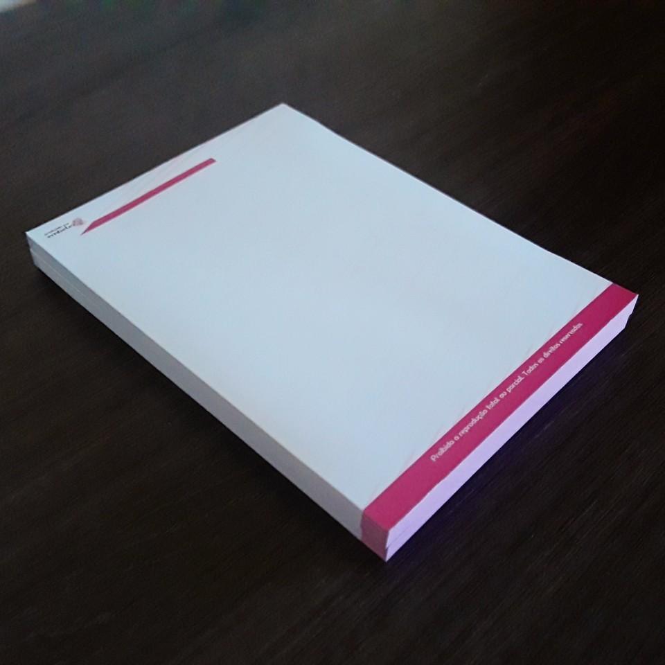 Bloco Para Anotações Em Branco Prático Design Luxo - 100 Folhas