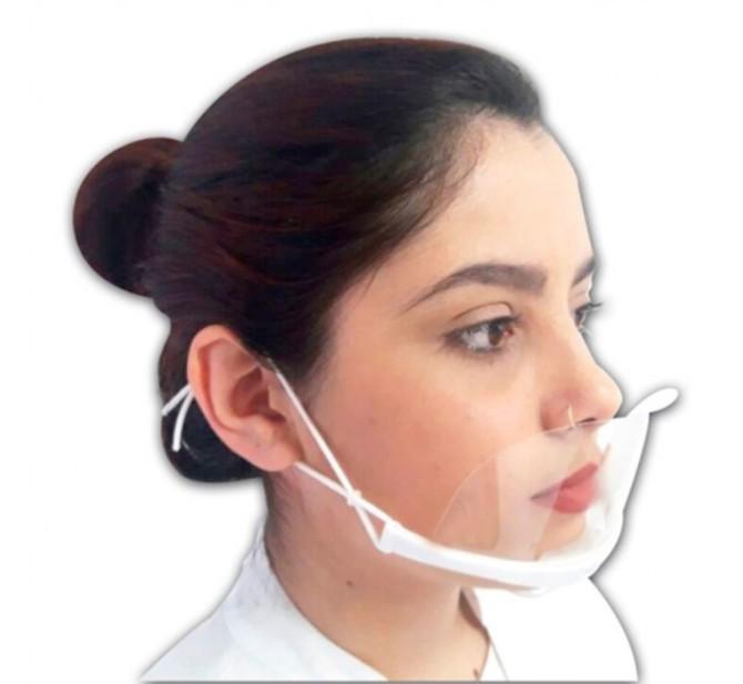 Caixa 10un Mascara Transparente Higienica Doctor Mask Doutor da Estetica