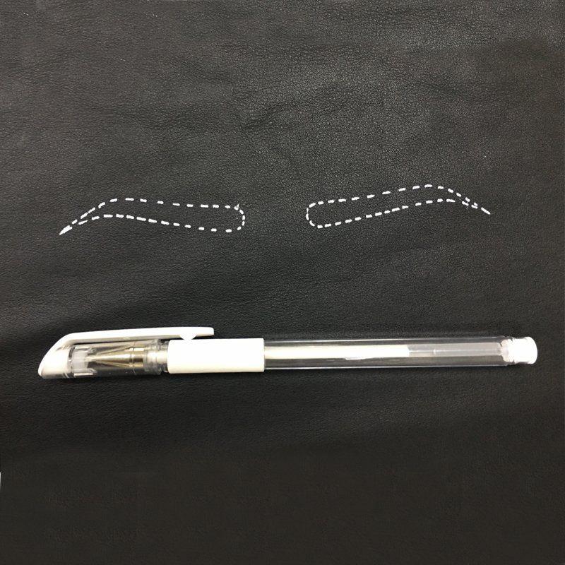 Caneta Em Gel Marcação Design Sobrancelha Microblading Tebori Micropigmentação Branca