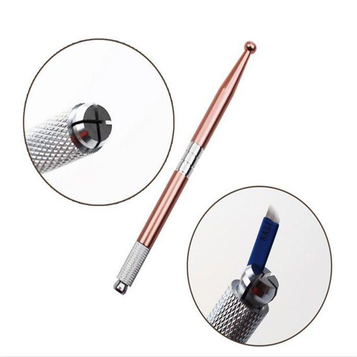 Caneta Tebori Circular Microblading Fio A Fio Sobrancelhas