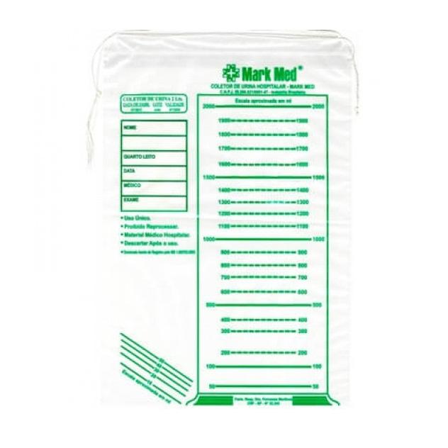 Coletor De Urina Adulto Mark Med - 2 Litros - C/100 Unidades