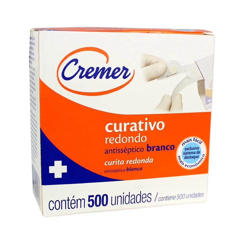 Curativo Redondo Antisséptico Branco - Cremer - 500 Unidades