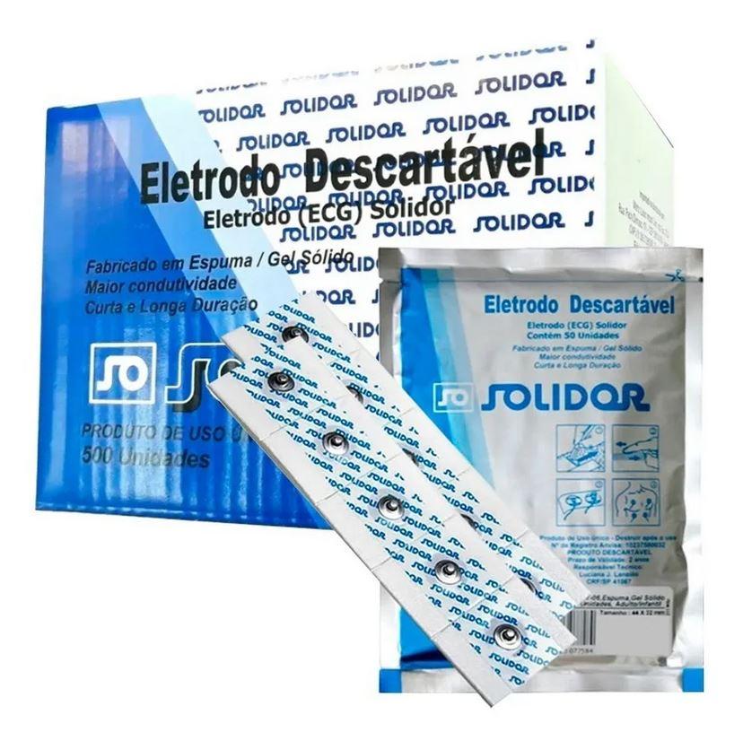 Eletrodo Ecg Adulto / Infantil - Caixa c/ 500 Unidades - Solidor