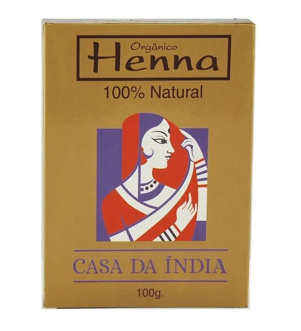 Henna Indiana 100% Natural 100g Para Cabelo - Casa Da Índia